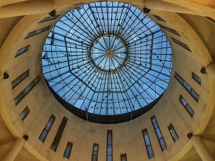 Dome of state art gallery, Hyderabad. Low Angle View Architecture Window Built Structure Dome Indoors  No People Concentric Sky Clock Face Circle Interior Hyderabad Building Building Interior