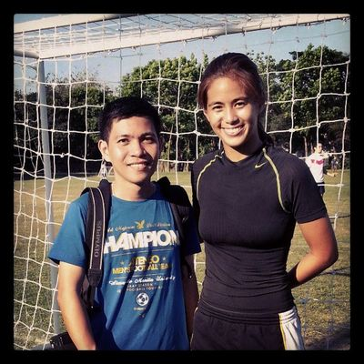 With AWFT's game stunner Inez Achacoso Awft Ateneo Ateneofootball Inezachacoso AFL themanansala photography instagram instagraphy instapic instaplace portrait getblued football