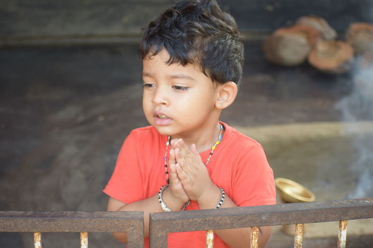 praying Childhood Vihaan South India Traditional Festival Nikon Nikond5300 Beauty Dhakshina Kannada Tulunaadu Day Day Photography Water Headshot Rural Scene Posing Natural Beauty