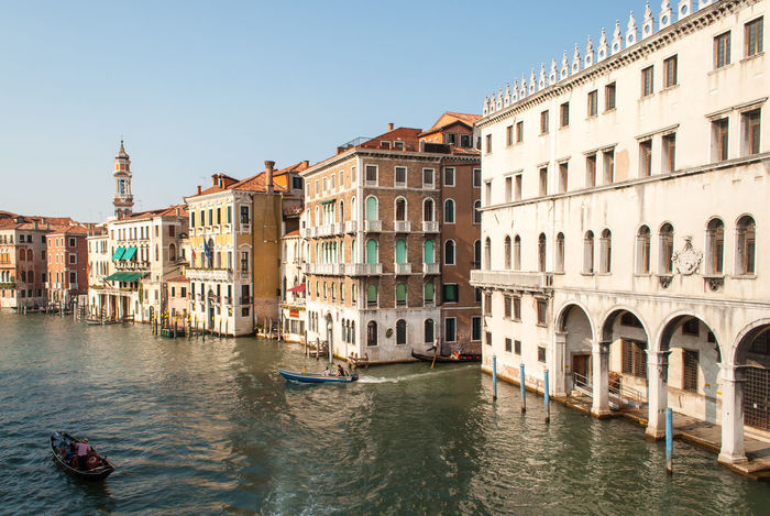 Architecture Boat Building Building Exterior Built Structure Canal City Clear Sky Culture Holiday Incidental People Mode Of Transport Nautical Vessel Residential Building Residential Structure River Transportation Travel Travel Destinations Venezia Venice Venice, Italy Water Waterfront Weekend Break