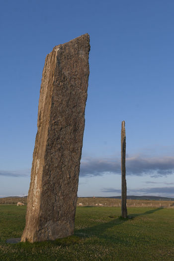 The Stones of Stenness, Orkney Ancient Orkney Beauty In Nature Blue Day Grass Landscape Megalith Monument Nature No People Outdoors Scenics Sky Standing Stones Stenness Stone Circle Tranquility