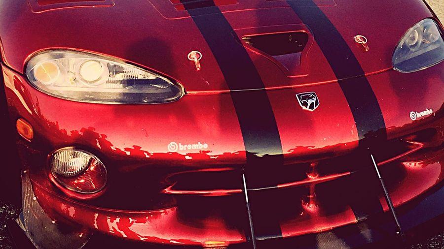Dodge Viper Red Dodge Viper  1000miglia Carsandcoffee CarShow Brembo