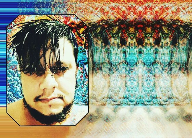 One Person Headshot Indoors  Close-up Real People People Only Men Collection Looking At Camera Psychedelicart Happiness Art, Drawing, Creativity Psychedelic Hello World Selfie ArtWork Lifestyles Multi Colored Edit_masters Edits Wireless Technology