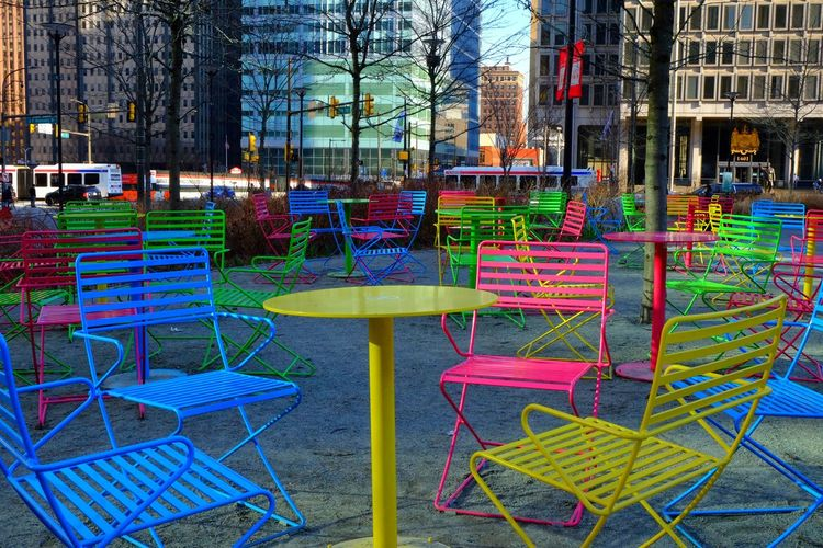 Skittles Outdoors Architecture Multi Colored Day City Built Structure No People Tree Rainbow Colors Pastels Patio Downtown District Cityscape Downtown Straightfromcamera Low Angle View Modern Streetphotography Travel Destinations Philadelphia Growth Cityhall Office Building Exterior Illuminated Politics And Government