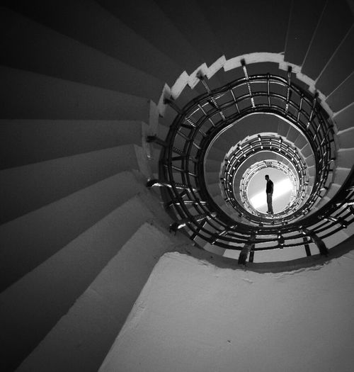 life is like a downward spiral...sometimes.. Check This Out Blackandwhite My Best Photo 2014Stairway The World Needs More Spiral Staircases Throw A Curve OO7 Jamesbond 😉