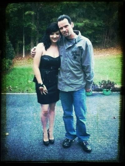 Daddy and I on homecoming.
