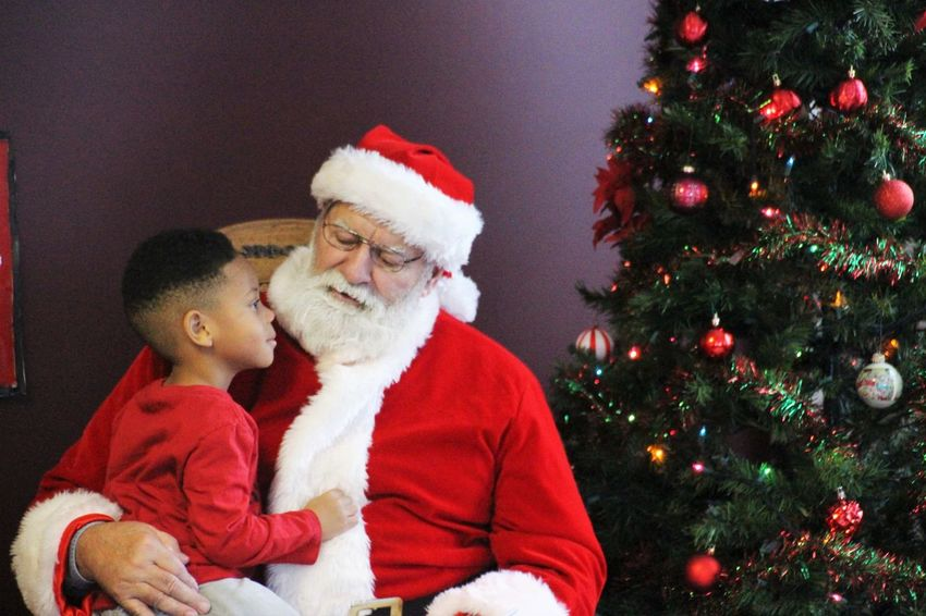 Santa Time Christmas Santa Claus Wishes Boy Child Childhood Christmas Tree Holiday - Event Indoors  Lifestyles People Real People Whisper Wonder
