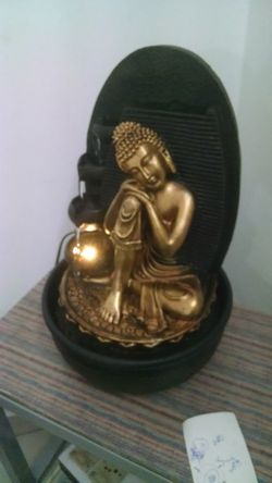 Statue Human Representation Sculpture Indoors  Gold Colored No People Day Close-up Diwali Lamp Lighted By Water