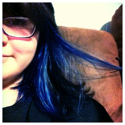 Blue Hair Redo 2nd Times The Charm Hello World