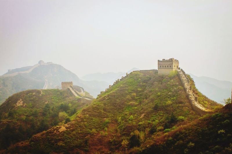 China Great Wall Of China Built Structure Architecture Mountain Building Exterior Plant Nature Sky Scenics - Nature Travel Destinations History Beauty In Nature Fog No People Growth Tree The Past Day Tourism Fort Outdoors