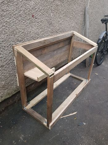 hotel for cats New Project Cat House In The Making For 8 Stray Cats Frame Reclaimed Wood Upcycled Treated Wood Progress Handmade By Me All Woman No Man Needed Hobby Love What I Do Wood - Material High Angle View Close-up Wooden