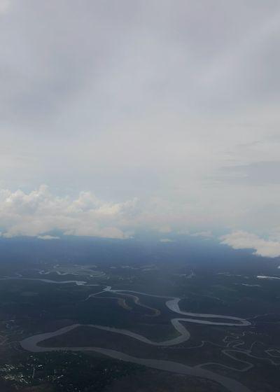 Estuary - fresh water meets salt water. Estuary Aerial View Landscape Ecology Cloud - Sky Scenics Fresh Water River Sky Nature Beauty In Nature Water Atlantic Ocean Vertical