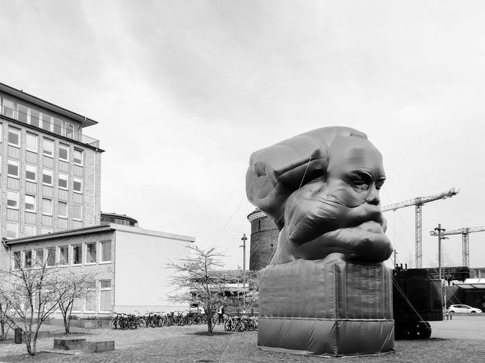 Reconstructing Marx... 1st Of May Building Exterior Human Representation Architecture Sky Built Structure Representation Nature Male Likeness Outdoors No People Sculpture Building Lifestyles