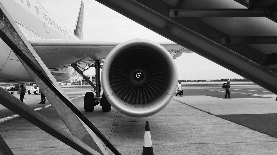 Manchester Airport Terminal One Turbine Plane