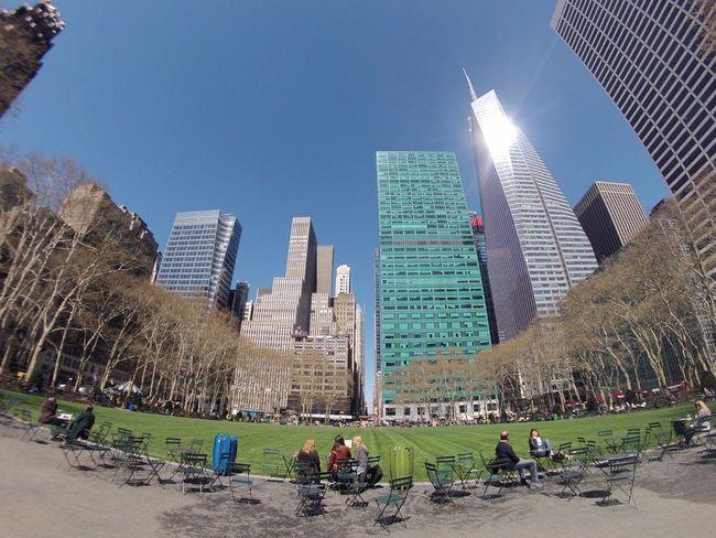 Bryant Park NYC Sunnyday☀️ Sunday Morning Goprohero3