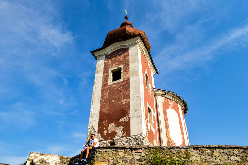 BanskáŠtiavnica Calvary Calvary Chapel Architecture Built Structure Building Exterior Façade Low Angle View Outdoors Blue Sky TheWeekOnEyeEM From My Point Of View Simplicity City Urban Perspectives Urban Photography Streetphoto Street Urban