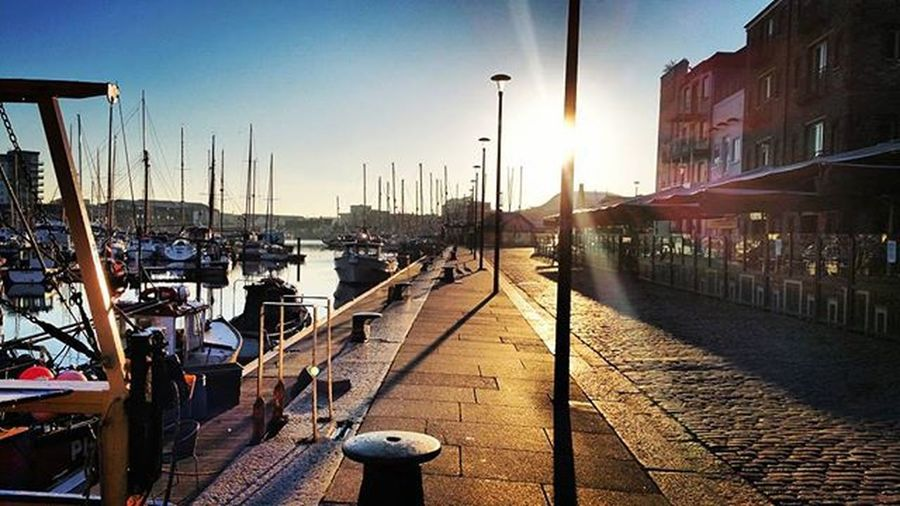Morning stroll to work @rockfish Work Rockfish Suttonharbour Plymouth Plymouthoceancity Plymouthbarbican Sunrise Morning Fresh Photo Amaturephotography