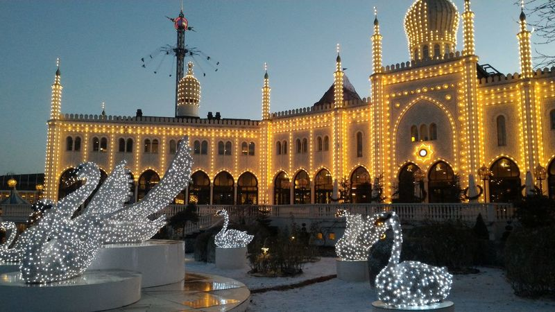 Architecture Christmastime City Copenhagen Decoration Denmark Fun Illuminated Outdoors Sky Tivoli Tourism Travel Destinations