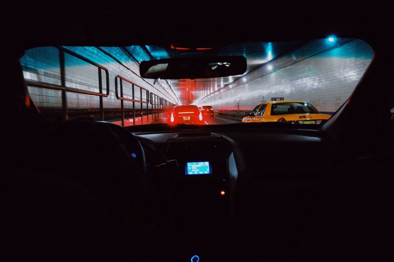 New York City Taxi Car Vehicle Interior Car Interior Transportation Land Vehicle Windshield Mode Of Transport Steering Wheel Dashboard No People Indoors  Speedometer Day