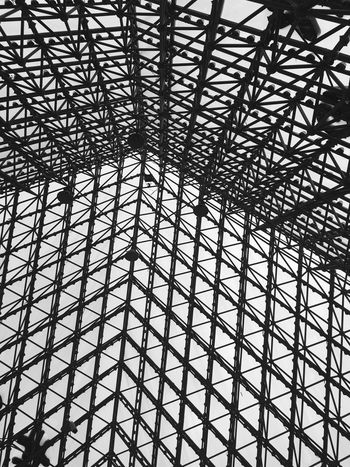 Modern Architecture at Window of the World Pyramid in Shenzhen - China Architecture Modern Architecture Chinese Architecture Pyramid Pyramids Black And White Architectural Detail Architectural Shenzhen Chinese China Window Of The World  Lattice Pattern Pattern Inside Building Interior Abstract Monochrome