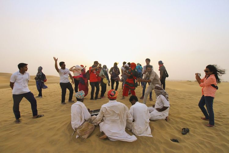 Connected By Travel Dancing Experiences And Fun Travel Student Life Jaisalmer Desert Beauty Folk Songs Local Singers Musician Rural Prople India