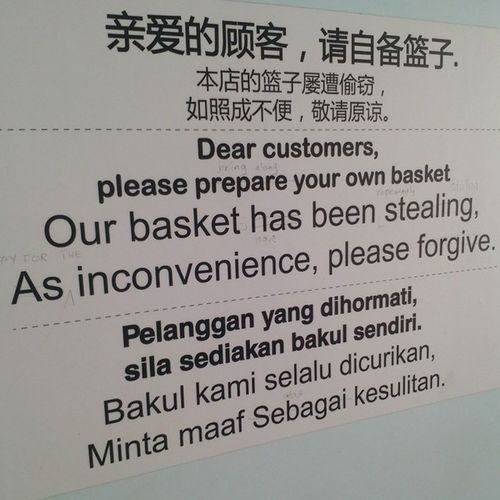 had a good laugh reading this Rainbowlaundry Wangsamelawati OhMyEnglish Funny malaysia kualalumpur