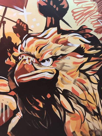 Mexican Eagle at Casanova McCann Agency in Irvine. Pay attention to detail. Graffiti Art