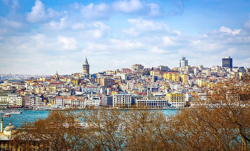 Galata Tower Istanbul Turkey Tower Old Buildings Tour Longshot Landscape Riverside Middle East Europe