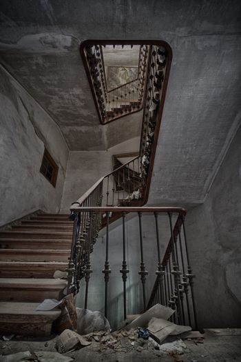 Abandoned Staircase Of Old Building