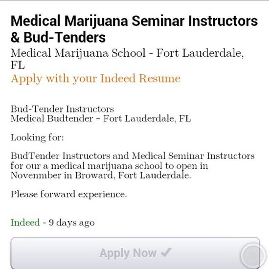 Just given people the heads up, you know I already applied lol Job Budtender Apply Applied