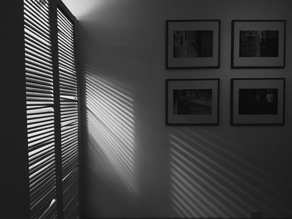 Indoors  Window No People Architecture Room Light And Shadow Dark Darkness Wall Light Architecture Shadow Indoors  Frame Windows Mystery Studio Art Art Gallery
