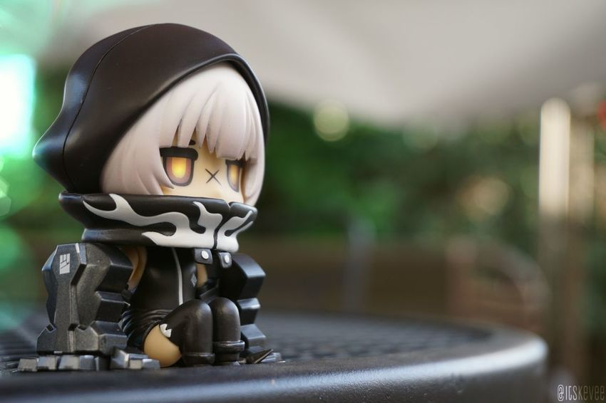 Grumpy Strength xD Anime Art Art And Craft Arts Culture And Entertainment Black Rock Shooter Close-up Creativity Day Equipment Focus On Foreground Human Representation In A Row Indoors  Man Made Object Metal Metallic No People Sculpture Selective Focus Single Object Still Life Strength ねんどろいど Nendoroid