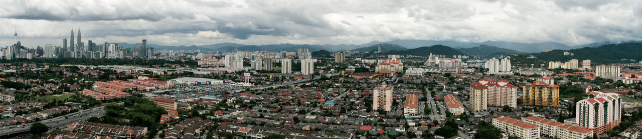Skyline of Kuala Lumpur from Ampang Jaya Ampang Kuala Lumpur Skyline Architecture Building Exterior Built Structure City City Life Cityscape Cloud - Sky Day High Angle View No People Outdoors Sky Skyscraper