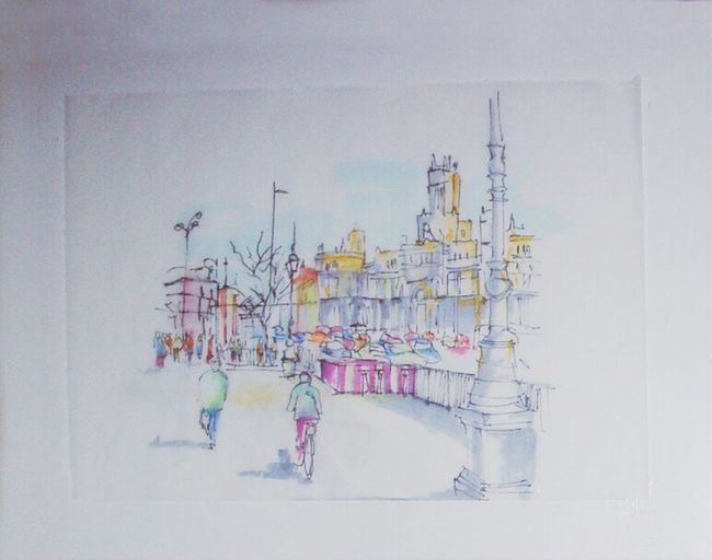 Madrid Sketch Drawing