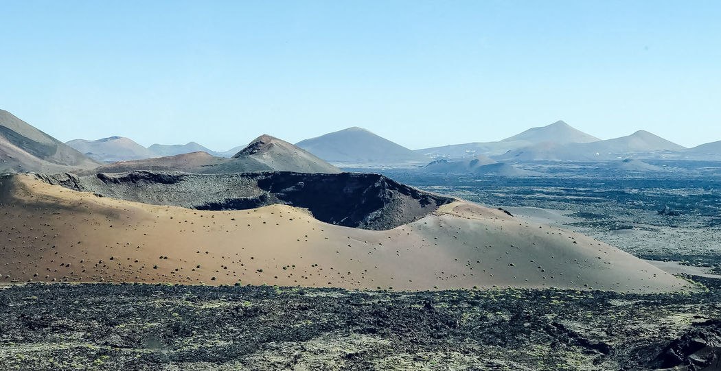 Beauty In Nature Day Desert Desert Landscape Lanzarote Moon Moon Landscape Mountain Natural Disaster Nature No People Outdoors Sand Sand Dune Scenics Sky Summer Timanfaya Volcano The Great Outdoors - 2017 EyeEm Awards