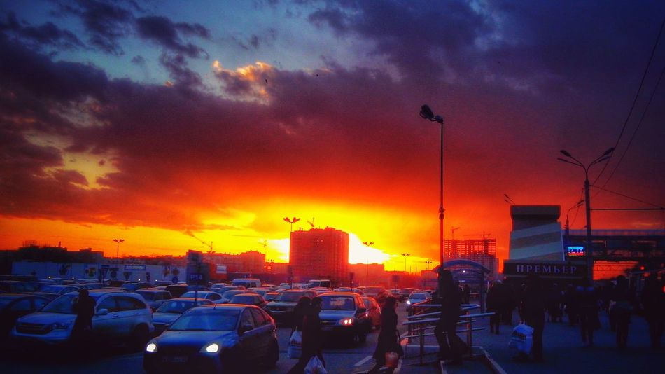catch the flame Sunlight Sunset Citylights Ryazan Skyline