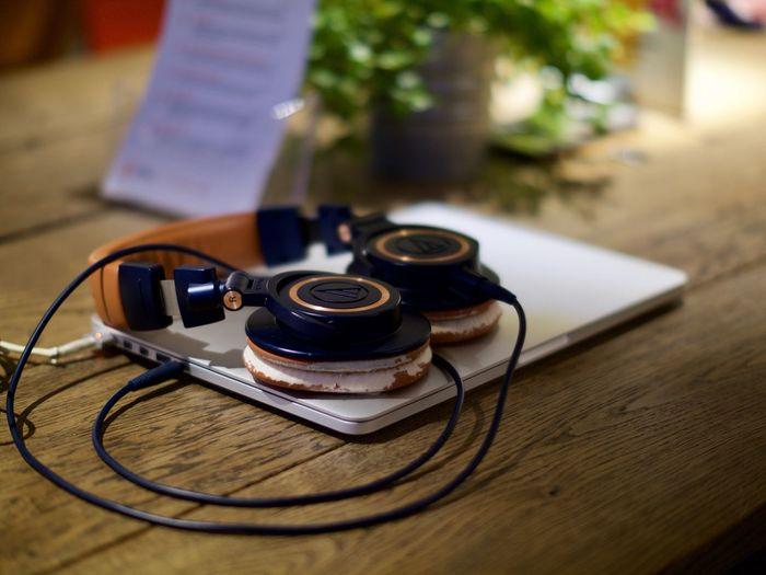 Audio Technica AudioTechnicaHeadphone Headphones Laptop Remote Work Wood