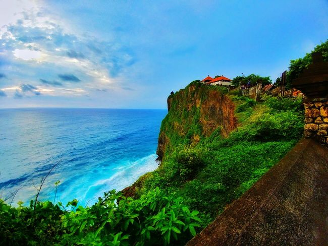 Temple Pura Bali, Indonesia Sea Nature Water Beach Beauty In Nature Sky Green Color Cloud - Sky Outdoors Day