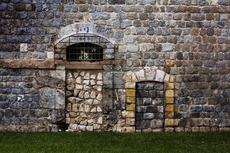 Abundance Ancient Civilization Brick Wall Brick Wall Day Doorway Full Frame Geometry Historic History Moss No People Old Outdoors Pebble Rock Rock - Object Ruined Stone Stone - Object Stone Wall Textured  Wall The Architect - 2016 EyeEm Awards