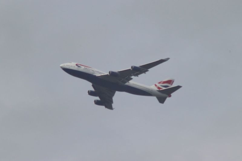 BA flight soars