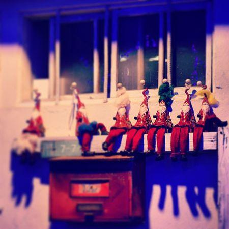 人形 サンタクロース 冬 風景