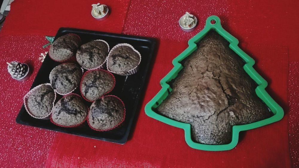 Christmas Indoors  High Angle View Table Food