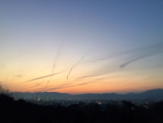 ♫Last Days (Devine&Statton) Twilight Twilight Sky Sunset Vapor Trail Vapor Trails Vapour Trail Vapourtrail Near An End Kiyomizu-dera KiyomizuTemple Kyoto, Japan Kyoto,japan
