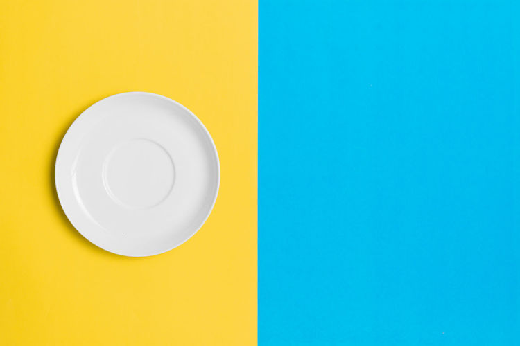 Empty plate on