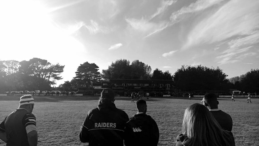 Worthing Raiders Rugby Match First Eyeem Photo Black And White Black And White Photography Real People Outdoors Blue Large Group Of People