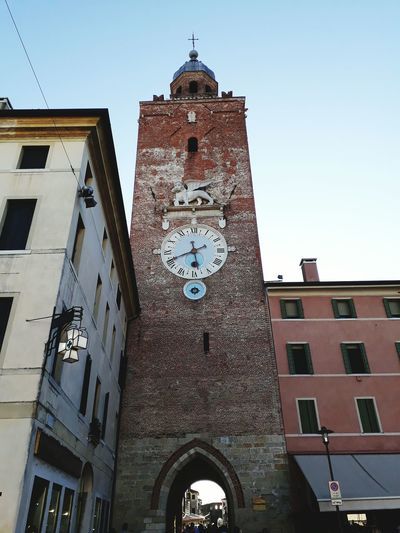 Religion Architecture Clock Building Exterior History Travel Destinations Clock Tower No People Clock Face Venice Lion