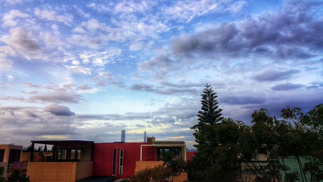 cloud - sky, sky, no people, built structure, architecture, building exterior, tree, outdoors, nature, day, beauty in nature