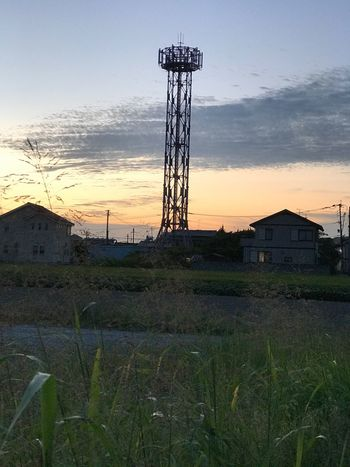 昨日のウォーキング🚶‍♀️ Grass Built Structure Sunset Architecture Sky No People Field Landscape Nature Outdoors Day Building Exterior Love EyeEm Gallery Japan Hope Time Beauty In Nature Nature Autumn Son Running Runner Plant 願い