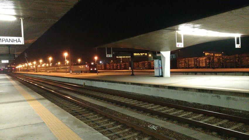 Illuminated Railroad Station Platform Railroad Track Public Transportation Rail Transportation Railroad Station Train - Vehicle Station Travel