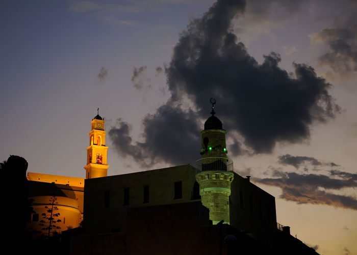 Travel Architecture Near East Sky Night Church Travel Destinations Israel Jaffa Mosque Capture Tomorrow